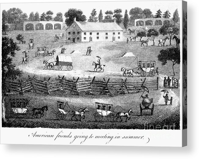 1811 Acrylic Print featuring the photograph Quaker Meeting, 1811 by Granger