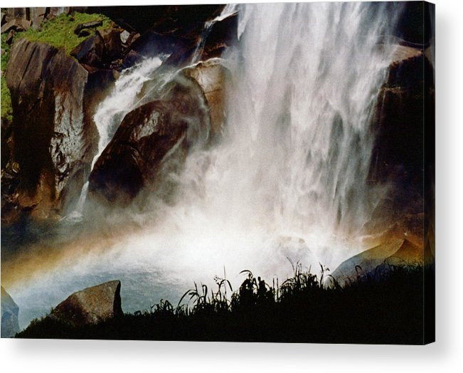 Vernal Falls Acrylic Print featuring the photograph Rainbow Under Vernal Falls 2 by Amelia Racca
