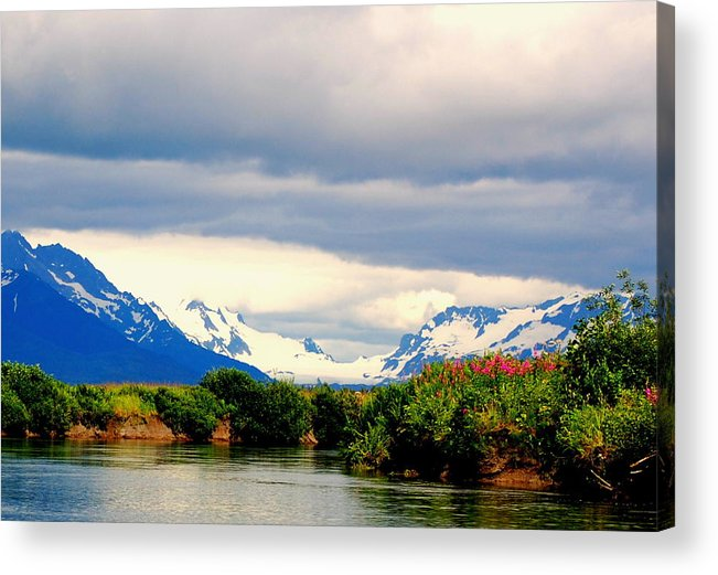 River Acrylic Print featuring the photograph River Bend by Ashley Sarem