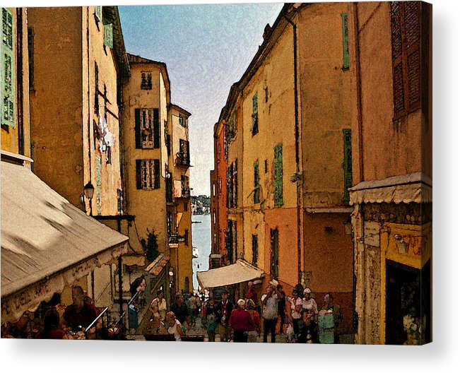 Villefranche Acrylic Print featuring the photograph Street In Villefranche II by Steven Sparks