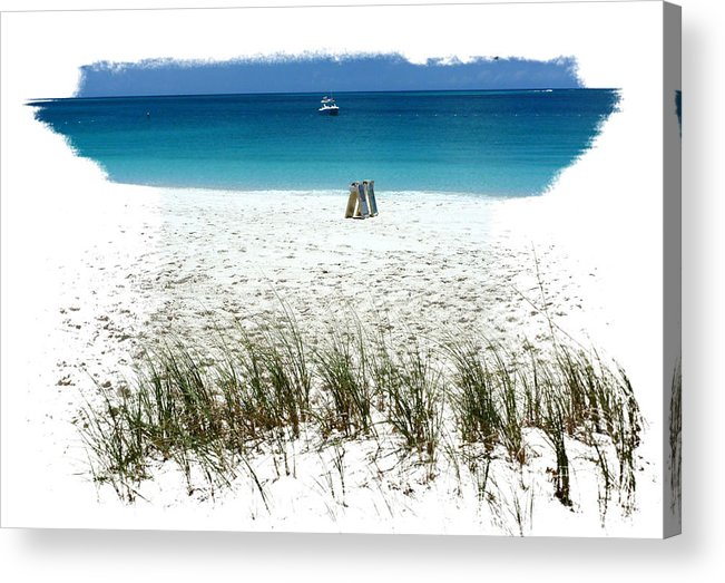 Baech Acrylic Print featuring the photograph Turks 29 by Allan Rothman