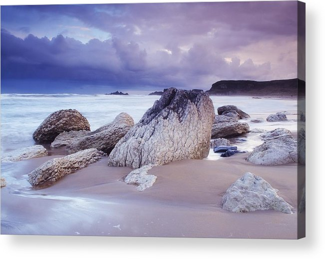 Beach Acrylic Print featuring the photograph Whitepark Bay, Co Antrim, Ireland Rocks by The Irish Image Collection