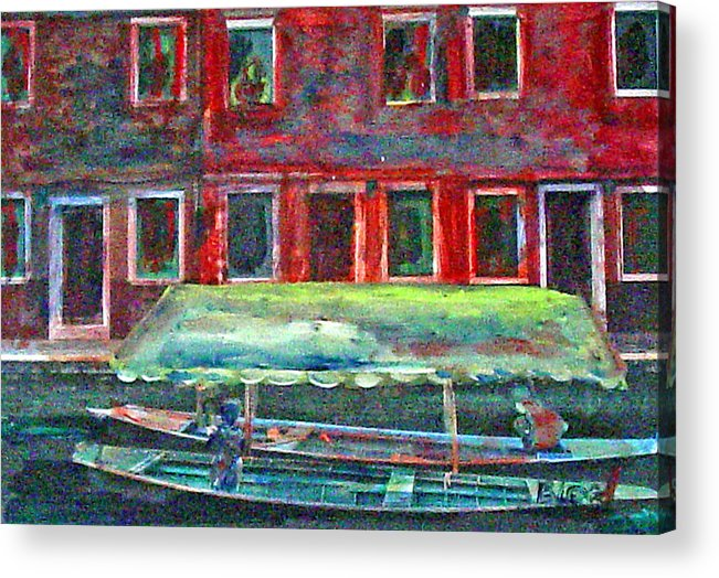 River Acrylic Print featuring the painting China Village by Peggy Blood