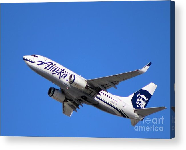 Alaska Airlines Acrylic Print featuring the photograph Alaska Airlines 737-800 by John Linder