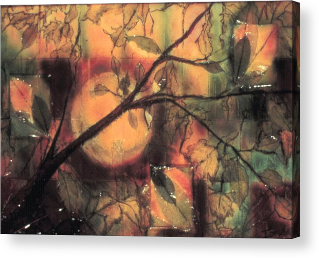 Autumn  Acrylic Print featuring the painting Autumn by Ione Citrin