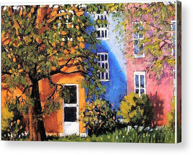 Scenic Acrylic Print featuring the painting Backyard by Jonathan Carter