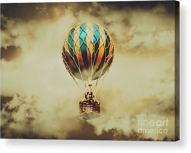 Vintage Acrylic Print featuring the photograph Fantasy Flights by Jorgo Photography - Wall Art Gallery