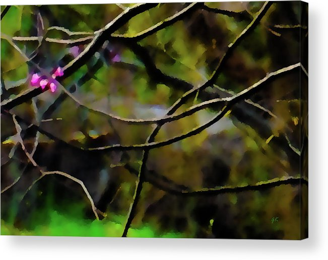Abstract Digital Art Acrylic Print featuring the painting First Sign Of Spring by Gerlinde Keating - Galleria GK Keating Associates Inc