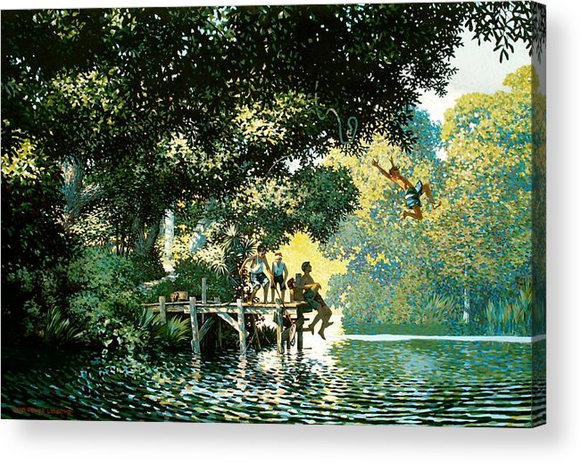 Landscape Acrylic Print featuring the painting Pointe Pleasant by Kevin Lawrence Leveque