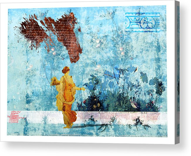 Roman Acrylic Print featuring the digital art Roman Holiday I by Alfred Degens