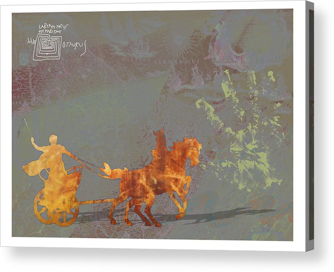 Roamn Acrylic Print featuring the digital art Roman Holiday Ix by Alfred Degens