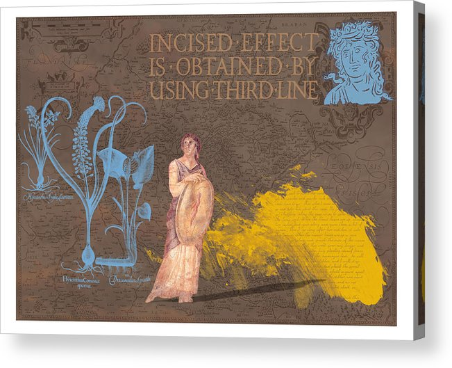 Roamn Acrylic Print featuring the digital art Roman Holiday V by Alfred Degens
