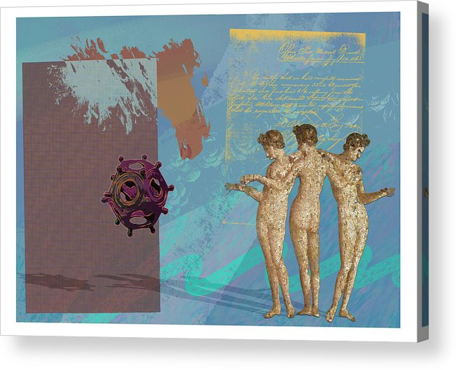 Roman Acrylic Print featuring the digital art Roman Holiday Vi by Alfred Degens