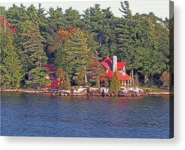 1000 Islands Acrylic Print featuring the photograph 1000 Island Scenes 17 - Skull And Bones Society - Deer Island by Steve Ohlsen