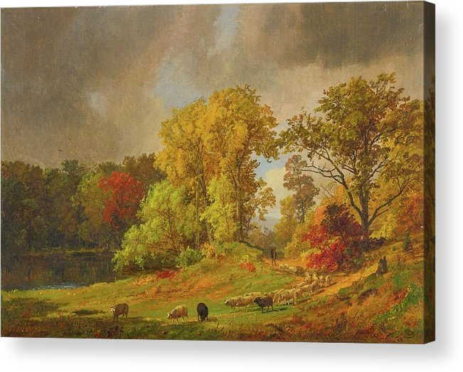 Autumn Acrylic Print featuring the painting Autumn by MotionAge Designs