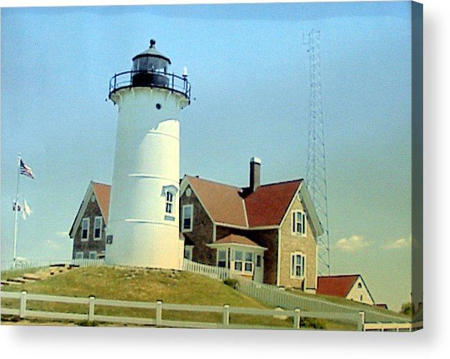 Lighthouse Photographs Acrylic Print featuring the painting Nobska Point Lighthouse by Frederic Kohli