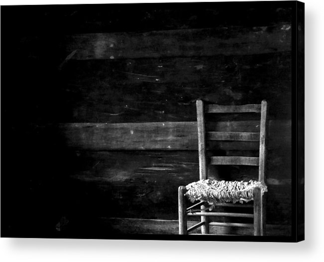 Chair Acrylic Print featuring the photograph You Have A Place In My Heart And In My Home by Ruben Flanagan