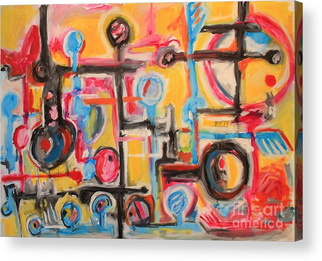 Acrylic Print featuring the painting Untitled by Michael Henderson