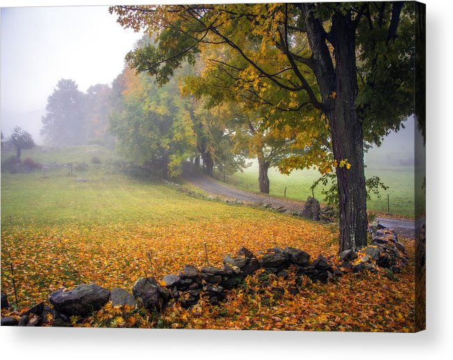 Vermont Acrylic Print featuring the photograph A Corner Of Paradise by Bruce Neumann