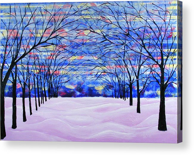 Landscape Acrylic Print featuring the painting After The Snow by Rollin Kocsis