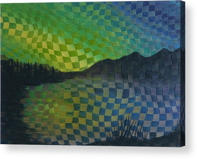 Landscape Acrylic Print featuring the painting Aurora by Linda L Doucette