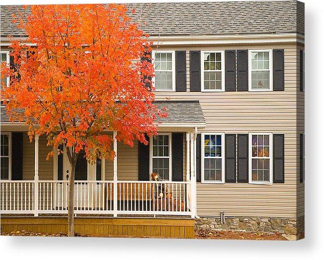 Autumn Acrylic Print featuring the photograph Autumn At The Inn by Mick Burkey