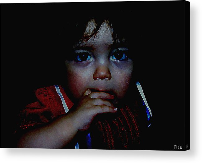 Child Acrylic Print featuring the photograph Baby Girl by Ruben Flanagan
