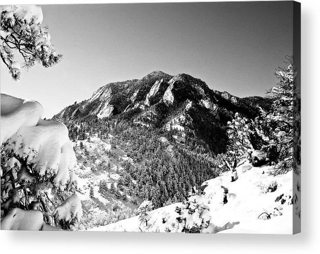 Landscape Acrylic Print featuring the photograph Bear Peak by Karl Manteuffel