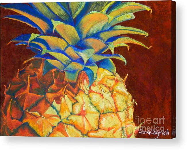 Pineapple Acrylic Print featuring the painting Beautiful By Design by Sarah Luginbill