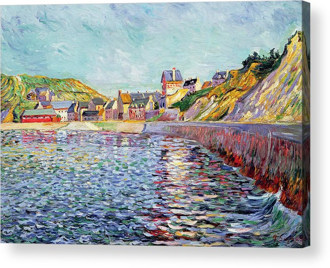 Port-en-bessin Acrylic Print featuring the painting Calvados by Paul Signac