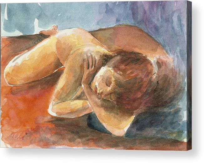 Dream Acrylic Print featuring the painting Chalom Parua by Tali Farchi