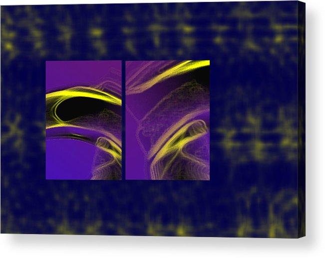 Abstract Acrylic Print featuring the digital art Cobra by Steve Karol
