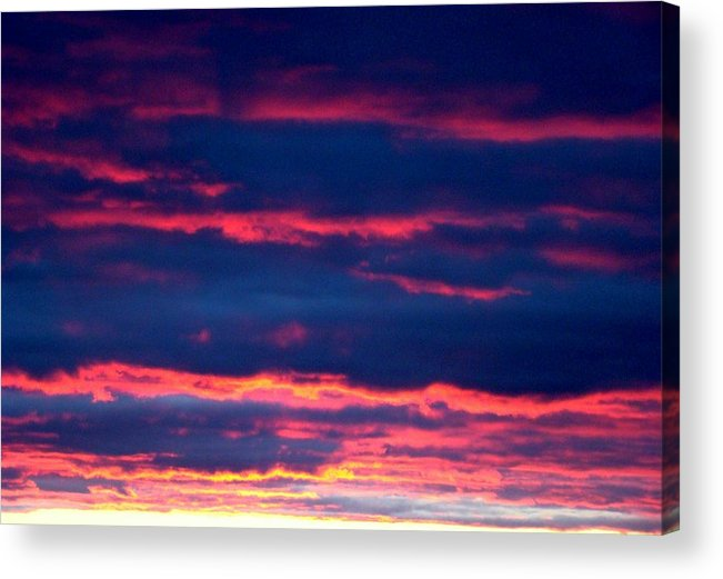 Sky Acrylic Print featuring the photograph Cold Front Sunset One by Ana Villaronga