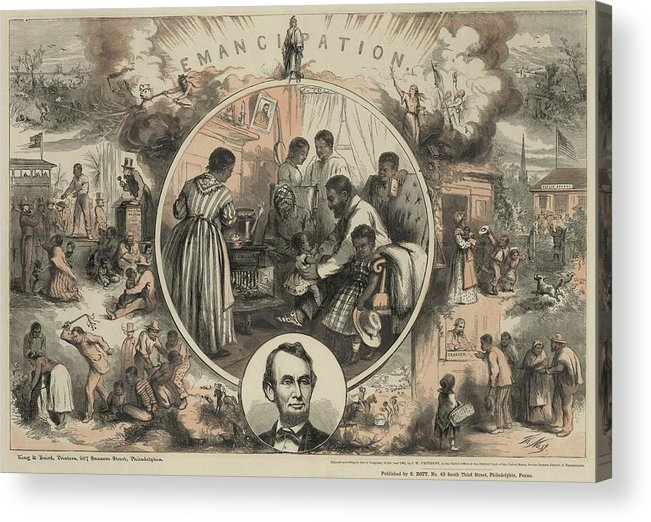 History Acrylic Print featuring the photograph Commemoration Of The Emancipation by Everett
