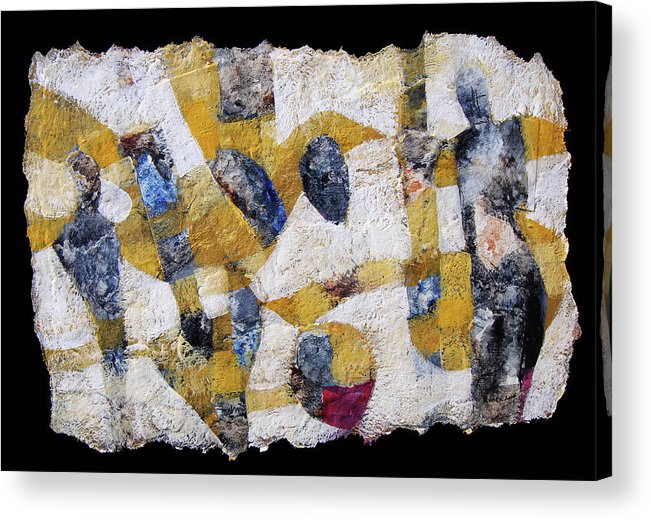 Collage Acrylic Print featuring the mixed media Composition2 by Ronex Ahimbisibwe
