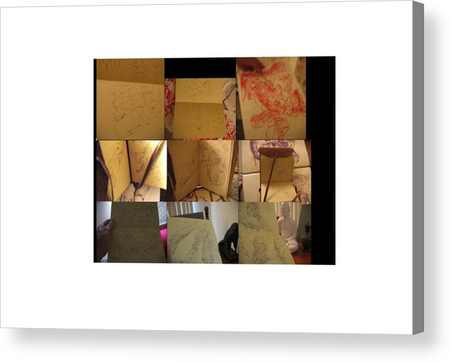 Sculptural Drawing  Abstract Digital Space Acrylic Print featuring the digital art Equisite Ex-picks by Edwin VanGorder