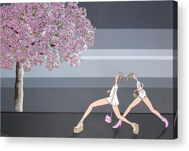 Girls Acrylic Print featuring the painting Fifteen by Patricia Van Lubeck