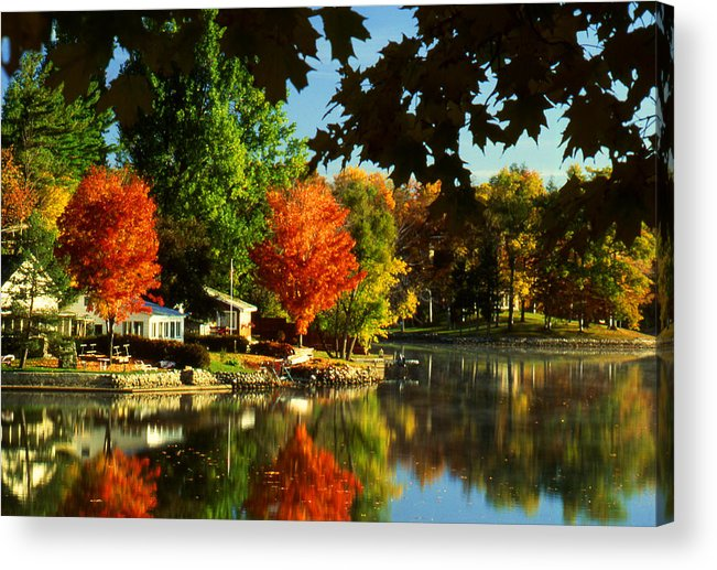 Fall Acrylic Print featuring the photograph Flaming Maples by Roger Soule