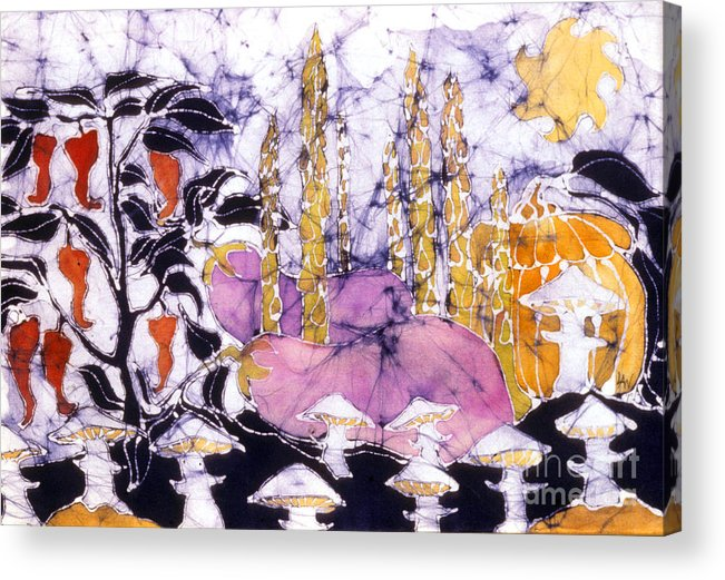 Garden Acrylic Print featuring the tapestry - textile Garden Fest From The Sun by Carol Law Conklin