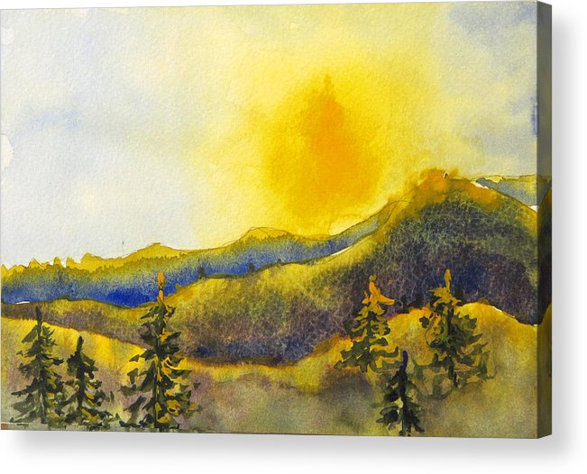 Sunset Acrylic Print featuring the painting Gassaway Sunset by Libby Cagle