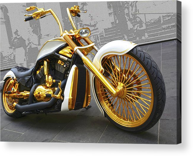 Motorcycle Acrylic Print featuring the photograph Golden One by Peter Krause