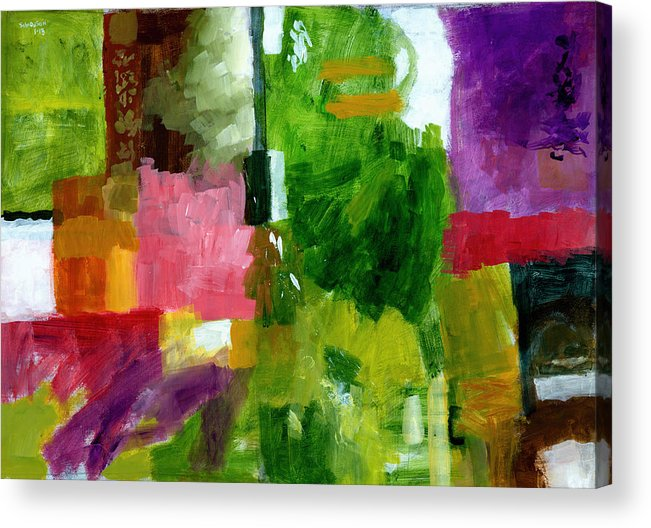 Abstract Acrylic Print featuring the painting Good Company by Douglas Simonson