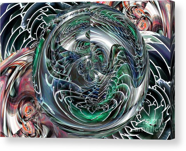 Green Acrylic Print featuring the digital art Green Planet by Ron Bissett