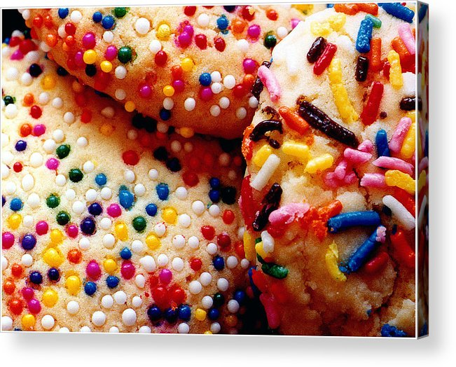 Cookie Acrylic Print featuring the photograph Holiday Cookies by Nancy Mueller