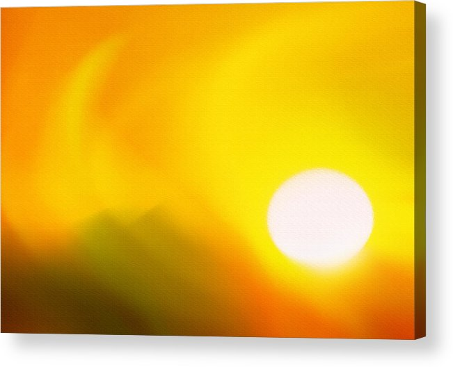 Sunset Acrylic Print featuring the photograph Hot Summer Sun 2 by Steve Ohlsen