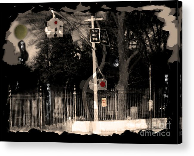 Dead Acrylic Print featuring the photograph I See Dead People by Madeline Ellis