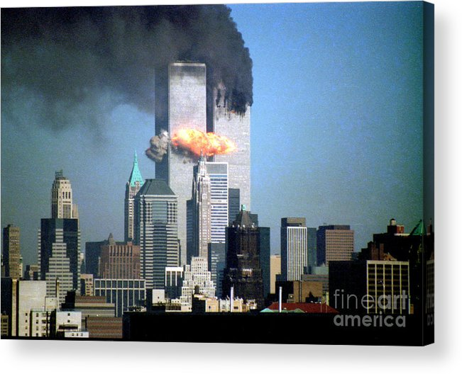 9/11 Acrylic Print featuring the photograph Impact Tower 2 by Mark Gilman