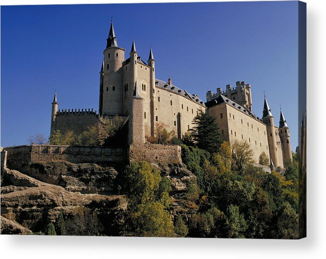 Royal Acrylic Print featuring the photograph Isabella's Castle In Segovia by Carl Purcell