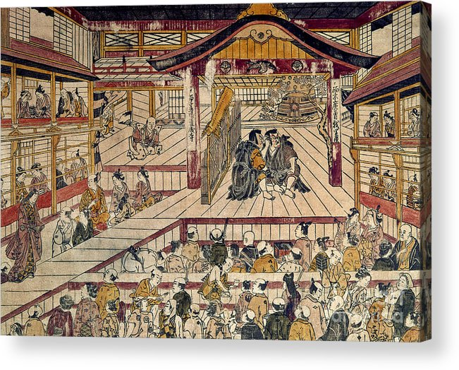 18th Century Acrylic Print featuring the photograph Japan: Kabuki Theater by Granger