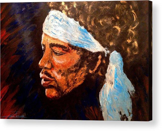 Jimi Hendrix Artwork Acrylic Print featuring the painting Jimi by Zuzana Perner